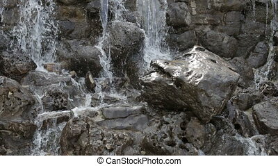 Stones under the waterfall