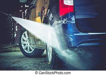 裏庭, 洗浄, 自動車