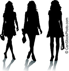 Silhouette fashion girls