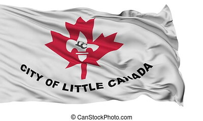 Isolated Waving National Flag of Little Canada City, Minnesota
