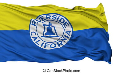 Isolated Waving National Flag of Riverside City, California...