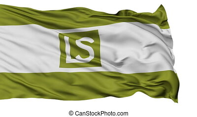 Isolated Waving National Flag of Lees Summit City, Missouri...