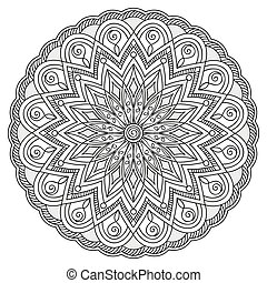 mandala with hand drawn elements - Mandala with hand drawn...