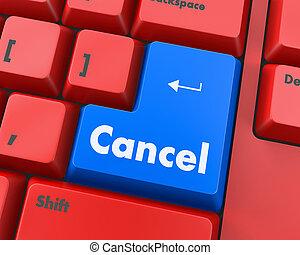 cancel - Text cancel button 3d render