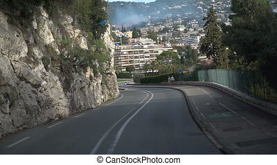 Road In Mountains of Monaco - The Road In Mountains of...