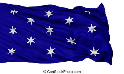 Isolated Waving National Flag of Washington City, New York -...
