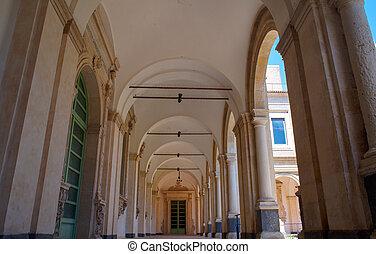 The Benedictine Monastery, Catania - CATANIA, ITALY - MARCH,...