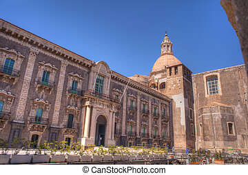 The Benedictine Monastery, Catania - CATANIA, ITALY - MARCH,...