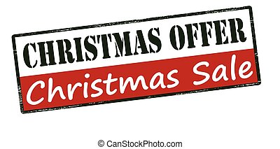 Christmas offer - Rubber stamp with text Christmas offer...