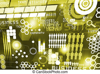 abs - Digital business background image with icons on media...