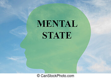Mental State mind concept - Render illustration of MENTAL...