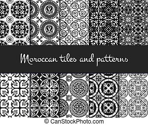 Middle Ages Pattern Color - Vector Illustration of Moroccan...