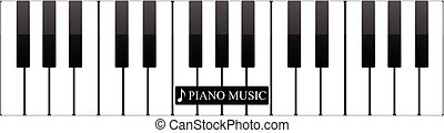 Piano keys abstract musical background