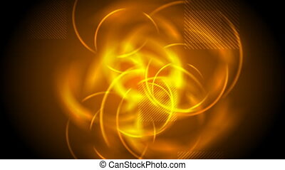 Tech glowing orange abstract video animation - Tech glowing...