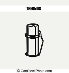 thermos cartoon icon vector illustration