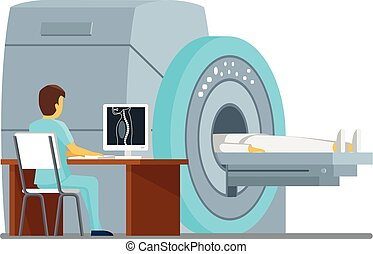 MRI scan and diagnostics. Health  care vector concept