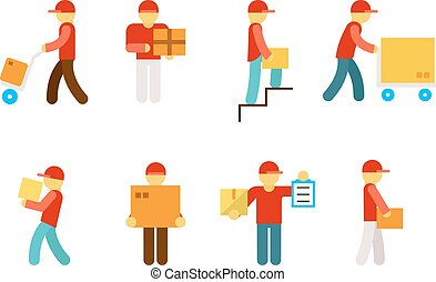 Delivery man icons