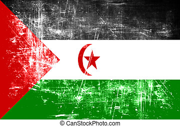Western sahara flag with some soft highlights and folds