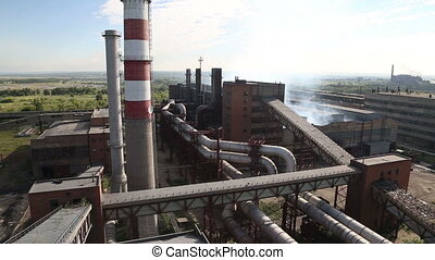The metallurgical plant - Working steel plant in Russia