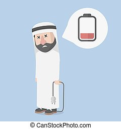 arab businessman.empty.energy