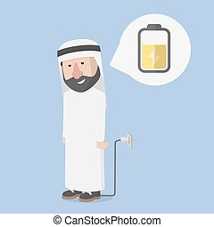 arab businessman.charger.energy