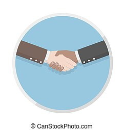businessmen shaking hands and cooperation