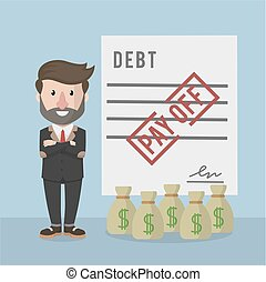 businessman pay off debt