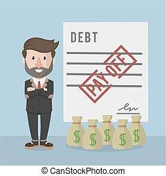 businessman pay off debt