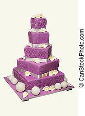 Wedding Cake - Elegant wedding cake on white backgrounds