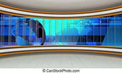 News TV Studio Set -78 - News TV Studio Set 78 - Virtual...