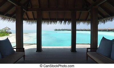 beach patio or terrace with access to sea - travel, tourism,...