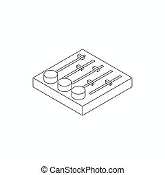 Sound mixer console icon, isometric 3d style - Sound mixer...