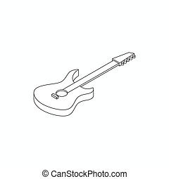 Bass guitar icon, isometric 3d style - Bass guitar icon in...