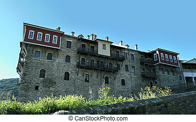 Mount Athos, monastery of Iviron - One of the remaining...