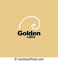 Golden ratio - proportion - graphic element