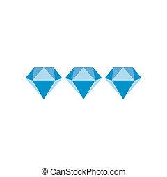 Three diamonds flat icon