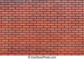 Dark Red Brick Wall