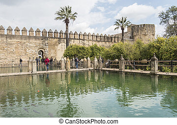 Alcazar de los Reyes Cristianos in Cordoba, Spain