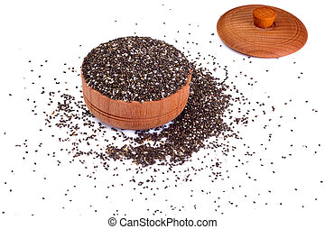 Healthy and diet food: chia seeds.