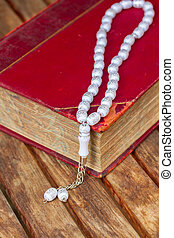 Holy Quran with beads