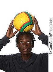 Black Football Supporter - Young South African man with...