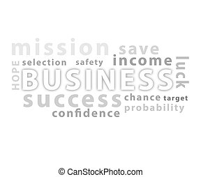 Business words cloud isolated on white background