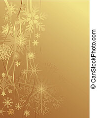 Gold Christmas background - This image is a vector...