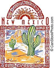 Cactus Design - Southwest Cactus desert design, vector,
