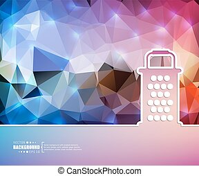 Creative vector grater. Art illustration template background. For presentation, layout, brochure, logo, page, print, banner, poster, cover, booklet, business infographic, wallpaper, sign, flyer.