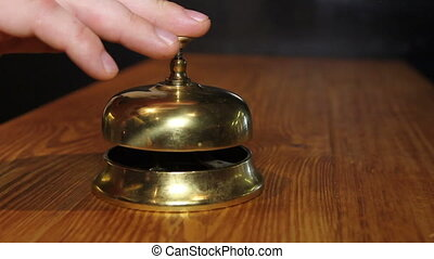 chef rings the bell - Notification from the kitchen of ready...