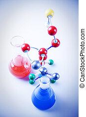 átomos, frascos