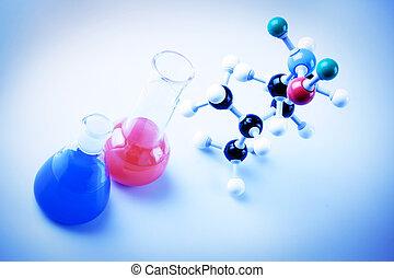 frascos, átomos