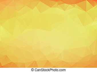 Abstract background pattern of yellow polygons