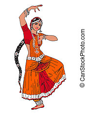 Indian Bollywood girl - Bollywood star. Dancing girl. Indian...